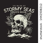 life on the sea.stormy seas... | Shutterstock .eps vector #1442508212