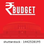 indian union budget   indian... | Shutterstock .eps vector #1442528195