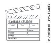 vector design of cinematography ... | Shutterstock .eps vector #1442542868