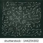 vector hand drawn arrows set | Shutterstock .eps vector #144254302