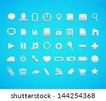 web icons. vector | Shutterstock .eps vector #144254368