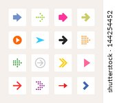 arrow icon web sign. set 01 ... | Shutterstock .eps vector #144254452