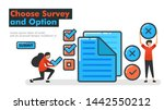 choose survey and option line...