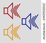 speaker vector colorful stroke...