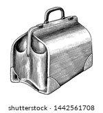vintage medical bag hand draw... | Shutterstock .eps vector #1442561708