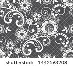 seamless lace retro vector... | Shutterstock .eps vector #1442563208