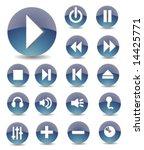 iconset glossy blue 3 | Shutterstock .eps vector #14425771