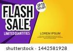 flash sale design for business...   Shutterstock .eps vector #1442581928