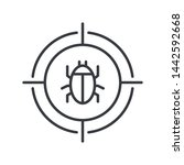 malware bug in target vector...   Shutterstock .eps vector #1442592668