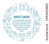 robotic surgery banner in... | Shutterstock . vector #1442620865