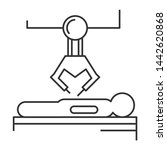 robotic surgery line icon.... | Shutterstock . vector #1442620868