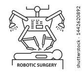 robotic surgery line icon.... | Shutterstock . vector #1442620892