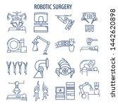 robotic surgery line icons set. ... | Shutterstock . vector #1442620898