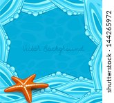 vector blue background with... | Shutterstock .eps vector #144265972