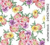 flower print. elegance seamless ... | Shutterstock . vector #1442679842