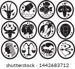zodiac signs vector astrology... | Shutterstock .eps vector #1442683712
