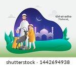 cartoon character of happy... | Shutterstock .eps vector #1442694938