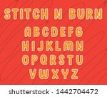 stitches and burn font... | Shutterstock .eps vector #1442704472