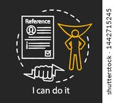 confident businessman concept... | Shutterstock .eps vector #1442715245