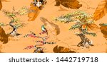 wide vintage seamless... | Shutterstock .eps vector #1442719718