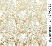 vintage gold flower pattern... | Shutterstock .eps vector #1442793782