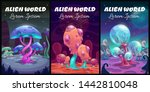 fantastic background. fantasy... | Shutterstock .eps vector #1442810048