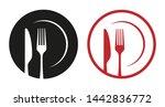 red black abstract restaurant...   Shutterstock .eps vector #1442836772