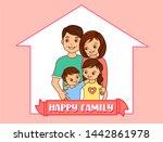 concept housing happy young... | Shutterstock . vector #1442861978