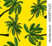 watercolor seamless pattern... | Shutterstock . vector #1442871122