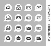 letter icons for app | Shutterstock .eps vector #144291346