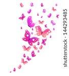 Stock vector butterflies design 144293485