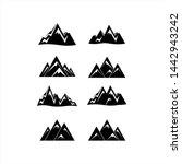 mountain icon collection vector ... | Shutterstock .eps vector #1442943242