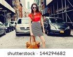 beautiful brunette young woman... | Shutterstock . vector #144294682