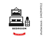 bedroom icon in trendy flat... | Shutterstock .eps vector #1442949512