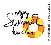 summer design sticker with... | Shutterstock . vector #1442982695