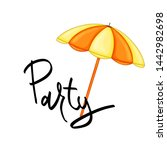 summer design sticker with... | Shutterstock . vector #1442982698