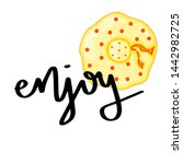 summer design sticker with... | Shutterstock . vector #1442982725