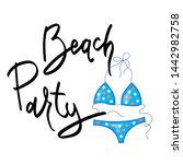 summer design sticker with... | Shutterstock . vector #1442982758