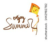 summer design sticker with...   Shutterstock . vector #1442982782