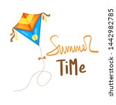summer design sticker with...   Shutterstock . vector #1442982785