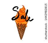 summer design sticker with...   Shutterstock . vector #1442982815