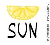 summer design sticker with...   Shutterstock . vector #1442982842