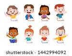 kids study together happy... | Shutterstock .eps vector #1442994092