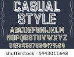 typeface alphabet font script...   Shutterstock .eps vector #1443011648