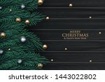 christmas greeting card with... | Shutterstock .eps vector #1443022802