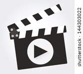 movie clapper | Shutterstock .eps vector #144303022