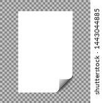 paper sheet wrapped vector...   Shutterstock .eps vector #1443044885