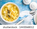 fresh homemade vegetable soup... | Shutterstock . vector #1443068012