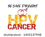 prevent hpv or human... | Shutterstock .eps vector #1443137948