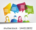 people and speech bubbles design | Shutterstock .eps vector #144313852